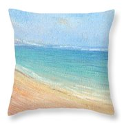 Aliomanu Beach Throw Pillow