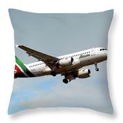 Alitalia Airbus A319-112 Throw Pillow