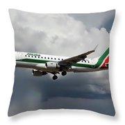 Alitalia Embraer Erj-175std Throw Pillow