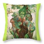 Living Tree Throw Pillow