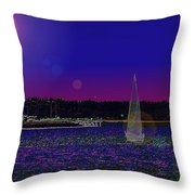 Alki Ghost Sail Throw Pillow