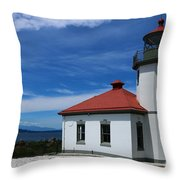 Alki Point Light Throw Pillow