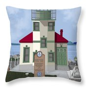 Alki Point On Elliott Bay Throw Pillow