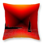 Alki Sail 2 Throw Pillow