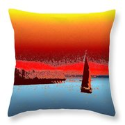 Alki Sail 3 Throw Pillow