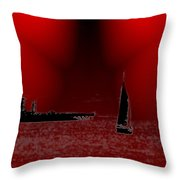 Alki Sail 5 Throw Pillow