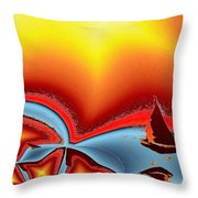 Alki Sail Under The Sun 2 Throw Pillow