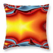 Alki Sail Under The Sun Throw Pillow