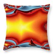 Alki Sail Under The Sun Throw Pillow