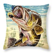 All About The Bass Throw Pillow