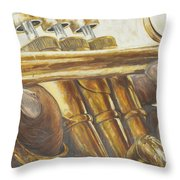 All About The Brass Throw Pillow