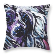All About The Crest Throw Pillow