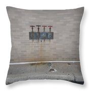 All Alone Four Pipes Throw Pillow