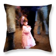 All Alone In A Crowd Throw Pillow