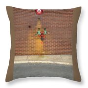 All Alone Pipe Throw Pillow