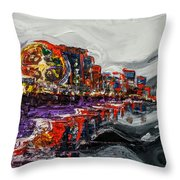 All Along The Grand Strand Throw Pillow