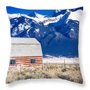 All American Barn Throw Pillow