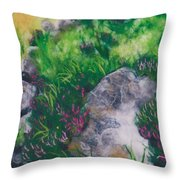 All Among The Blooming Heather Throw Pillow