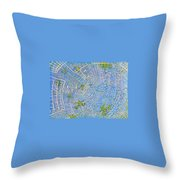 All Around In Light-blue Throw Pillow