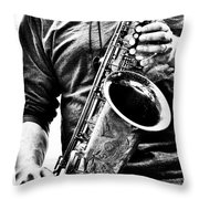 All Blues Man With Jazz On The Side Throw Pillow