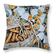 All Buoy'd Up Throw Pillow