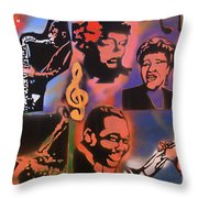 All Dat Jazz Throw Pillow