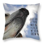 All Dogs Go To Heaven Quote Throw Pillow
