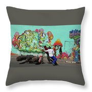 All Downhill From Here Throw Pillow