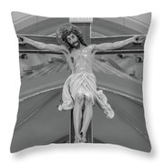 All For You Grayscale Throw Pillow