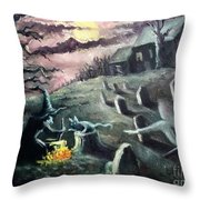 All Hallow's Eve Throw Pillow