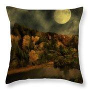 All Hallows Moon Throw Pillow