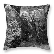 All In A Row At Fuerty Cemetery Roscommon Ireland Throw Pillow