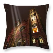 All Is Real Except The Church Throw Pillow