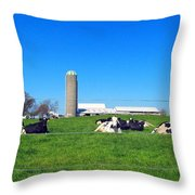 All Is Well In The Farmland Throw Pillow