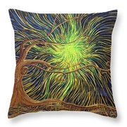 All Is Woven By The Light Throw Pillow