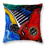 All Jazzed Throw Pillow