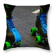 All Natural Disaster's Skates Throw Pillow