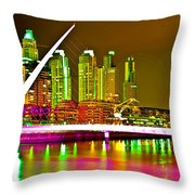 All Night Puerto Madero Throw Pillow