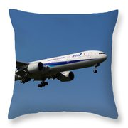 All Nippon Airways Boeing 777 Throw Pillow