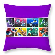All Pictures With Eyes Throw Pillow
