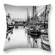 All Quiet In Nyhavn Throw Pillow