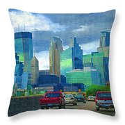 All Roads Lead To Minneapolis Throw Pillow