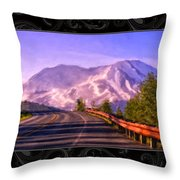 All Roads Lead To The Mountain Throw Pillow