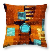All Sewn Up Throw Pillow
