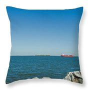 All Ships At Sea Throw Pillow