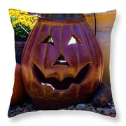 All Smiles For Halloween Throw Pillow