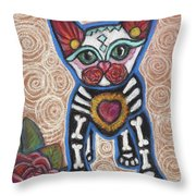 All Souls Day Aztec Throw Pillow
