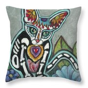 All Souls Day Leo Throw Pillow