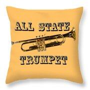 All State Trumpet Throw Pillow