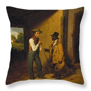 All Talk And No Work Throw Pillow